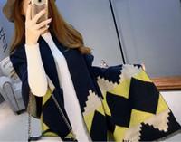 Wholesale 2016 autumn and winter new type of diamond pattern extra thick warm cashmere scarf shawl dual purpose camera artifact