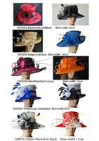church hats fashion - Large Brim Sinamay Hat for Kentucky Derby wedding races party church formal hat BY EMS