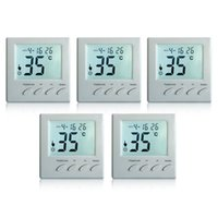 Wholesale LCD Display Warm Floor Heating Thermostats Programmable White Temperature Controller Room Thermostat termostato digital
