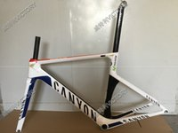 Wholesale 2016 White Aeroad SLX Road Bicycle Frame Carbon Frame Size XXS XS S M L available colors for choice