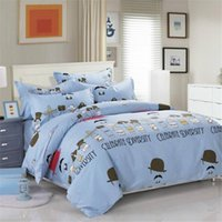 Wholesale Cartoon Bedding Set Sausage Dogs and Dachshund Quilt Cover Pink Printed Kids Bed Set Queen Size Sheets