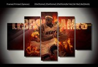 Oil Painting basketball player cartoon - 5 Panel HD Printed canvas oil painting basketball player Painting room decoration print poster picture canvas