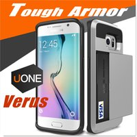 Cheap V erus Samsung S6 S7 edge Plus Case Tough Armor iphone 6 6s cases with Wallet Card Slot Damda Slide Heavy Duty Protection Cover for Note 5 4