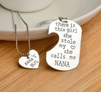 beaded keyrings - Hot Mommy s Girl Love Necklace Keyring Set quot there is this girl she stole my heart she calls me Mommy quot Letter Pendant Jewelry