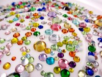 Wholesale Mix Sizes g pack about Non Hot Fix resin crystal stone For DIY Nail Art Mobile Phone gems HS20g
