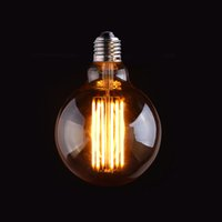 Wholesale Vintage LED Long Filament Bulb Edison G95 Style Gold Tint W K V VAC Retro Decorative Lamp Dimmable