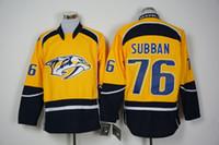 Wholesale Men s Nashville Predators PK Subban Gold Home Premier Jersey Top Quality Hockey Jerseys Embroidered Hockey Shirts Cheap Athletic Apparel