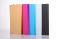 Wholesale High Quality Ultra Thin Metal Power Bank mAh Mobile External Battery Portable Power Bank for iPhone S Plus S and Others