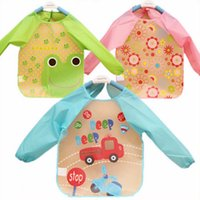 baby bibs waterproof backing - 1PCS Hot Selling New Baby Toddler Coverall Bib Apron With Cute Animals And Waterproof Backing