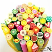 art clay style - Fashion Nail Art Stickers Clay Canes Rod Polymer Sticks Decoration Fruit Flower Dollhouse Styles Nails DIY Tools Hot