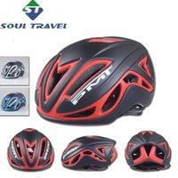 Wholesale Soul Travel Vents Bicycle Helmet Cover Mtb PC EPS Men Moutain Road Bike Helmets Cycling Head Scarf Kask Capacet Bicicleta