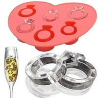 Wholesale Party Bar Festival Ice Cream Makers Ring shape ice six frames Ice box Ring shape model of the chocolate