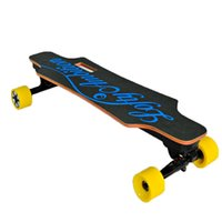 bamboo skateboard - Electric Skateboard Electric Scooter with Remote Control Bamboo Fibreboard Glass Material Black PU Wheel Kick Scooters for Adults W1RS
