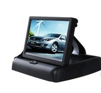 Wholesale Car Electronics Rear View Camera CH Video quot Foldable TFT LCD Color Rearview Mirror Car Monitor CCD car rear view camera with