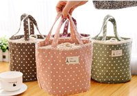 plastic lunch box - 5pcs lotWaterproof Thermal Cooler Insulated Lunch Container Lunch Box Carry Bag lunch bag Sweet Tote Picnic Pouch for Women freeshipping821