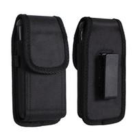 venda por atacado caso bolsa de couro blackberry-Para iphone 6 7 Universal Sport Nylon couro holster Belt clip telefone Case Cover bolsa para Samsung S6 S7 4.7-5.5 polegadas
