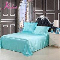 aqua bedspread - Aqua silk bedding set linen bedclothes bed sheet duvet cover quilt Queen King size bedspread pillowcase