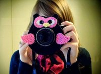 Wholesale Christmas Gift Photographer Shutter Buddies OWL Camera Len Animals Hat Crochet Knit Lens Toy Baby Photo Studio Accessories Photography Props
