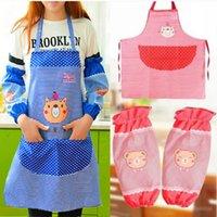 Wholesale Han edition apron Cute cartoon bear apron suit anti fouling prevent oil apron