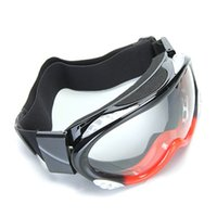 enduro - Motorcycle Motocross Enduro Ski Snowboard Protective Glasses Goggle Black Red