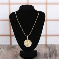 america coins - Wild retro gold pendant necklace portraits wild wave of products selling in Europe and America must have fashion retro sweater chain ossicul