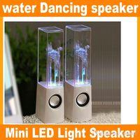 Hot Sales RainDance Fountain Speaker Nouvelle marque Dancing Water Speaker Portable Portable Mini USB LED Light Speaker pour PC MP3 JF-A4