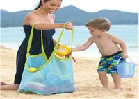Wholesale Children s Beach Dredging Tool Toy Storage Bag Mesh Bag Large Pouch Bag Sand Beach Bags Mesh Bag Tote cm