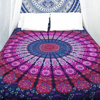 Wholesale Wall Decor Hippie Tapestries Bohemian Mandala Tapestry Wall Hanging Indian Throw Blanket cm Bedspread Yoga Mat Pinic Sheet BKT100