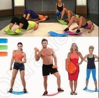 Wholesale Simply Fit Board Fitness Balance Board Professional Blue Orange Green Purple Body Shaper Yoga Plate OOA849