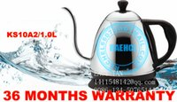 Wholesale 1 L Hot sale small electric kettle water pot Electric coffee pot with long spout base on UL Standard SJT plug