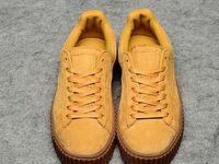 Wholesale 2016 Rihanna x Suede Creeper Black khaki Oatmeal Women Running Shoes Fashion Rihanna shoes sneakers