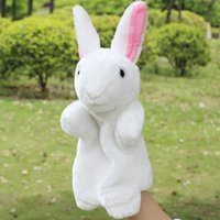 bedtime story - Baby plush toy gift animal hand puppet bedtime story tool rabbit amp wolf
