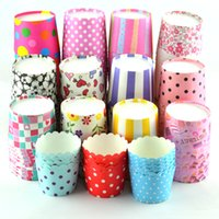 Wholesale Cake Paper Cups Cupcake Ice Cream Muffin Baking Cup Liners Bakeware Kitchen Tools Dessert Decor Cases Candy Box Christmas Party Gifts Favor