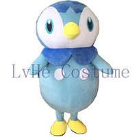 Wholesale Poke Mascot Costume Lovely Piplup Blue Penguin Mascot costume Halloween Birthday Wedding mascot costume P0001