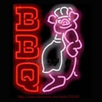 bbq pig - BBQ Pig Chef NEON SIGNs Handcrafted Wall Sign Recreation Window Neon Bulbs Restaurant Garage Beer Sign Real Glass Tube VD x15