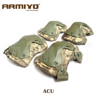 Wholesale Armiyo Tactical Extreme Sports Safety SWAT X type Protective Gear Elbow Knee Pads For CS War Game