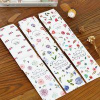 Wholesale pack Fresh Flower Story series Vertical version Envelope gift paper bag office school stationery supplies