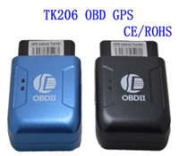 Wholesale TK206 Car GPS GPRS Tracker OBDII Interface Geo fence Function Without OBD Function Auto fleet vehicle Tracking Device