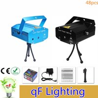 Wholesale AC110 V Mini Laser Stage Lighting mW Mini Green Red LED Laser DJ Party Stage Light Black Disco Dance Floor Lights