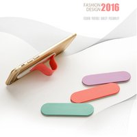 band stickers car - DIY Mobile Phone Sticker Decoration Car Holder Bracket Finger Secure Grip Strong Suction Phone Stand Elastic Band Glue Sticker