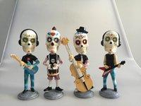 antique doll head - resin skull head music band figurine doll