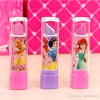Wholesale Princess Lipstick Erasers rubber for pencil kids erasers funny cute stationery Novelty Office school supplies Gifts