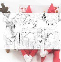 marionette - Hot Traditional Christmas elf Doll Reindeer Book Boy and girl elf doll in pack