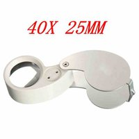 Wholesale New Arrival Price Portable X Glass Magnifying Jewelry Magnifier Eye Jewelry Loop Lens With LED Light