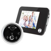 Acheter Lcd moniteur d'affichage vidéo-3,5 pouces Noir Moniteur LCD TFT HD numérique Affichage porte Peephole Viewer Auto-Photo-Accrochage / vidéo recodage