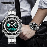 alarms business - Fashion Men s Waterproof Business Sport Multi purpose Watch Stopwatch Time Luminous Watch Alarm Clock Stainless Steel Watch