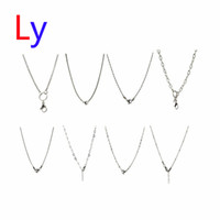 anniversary gift items - mixed item silver chains Necklace size inch Fit Pendant Jewelry floating charm glass locket NE0001