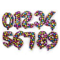 aluminium spot - Colorful Spot Aluminium Coating Balloons cartoon point number foil balloon Holiday birthday Party Supplies Decoration kids toys