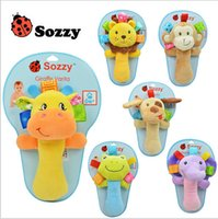 bb cloth - Sozzy Baby Hand Bell Toys Newborn Animal Grasp Rattles BB Finger Stick Infant Plush Toys Kids Hand Grasp Stick Plush Finger Puppets B280