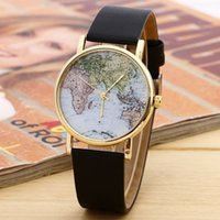 whites gmt - 2016 New Product Hot Fashion Alarm Watch World Map GMT Time Between The Two Places For Sale